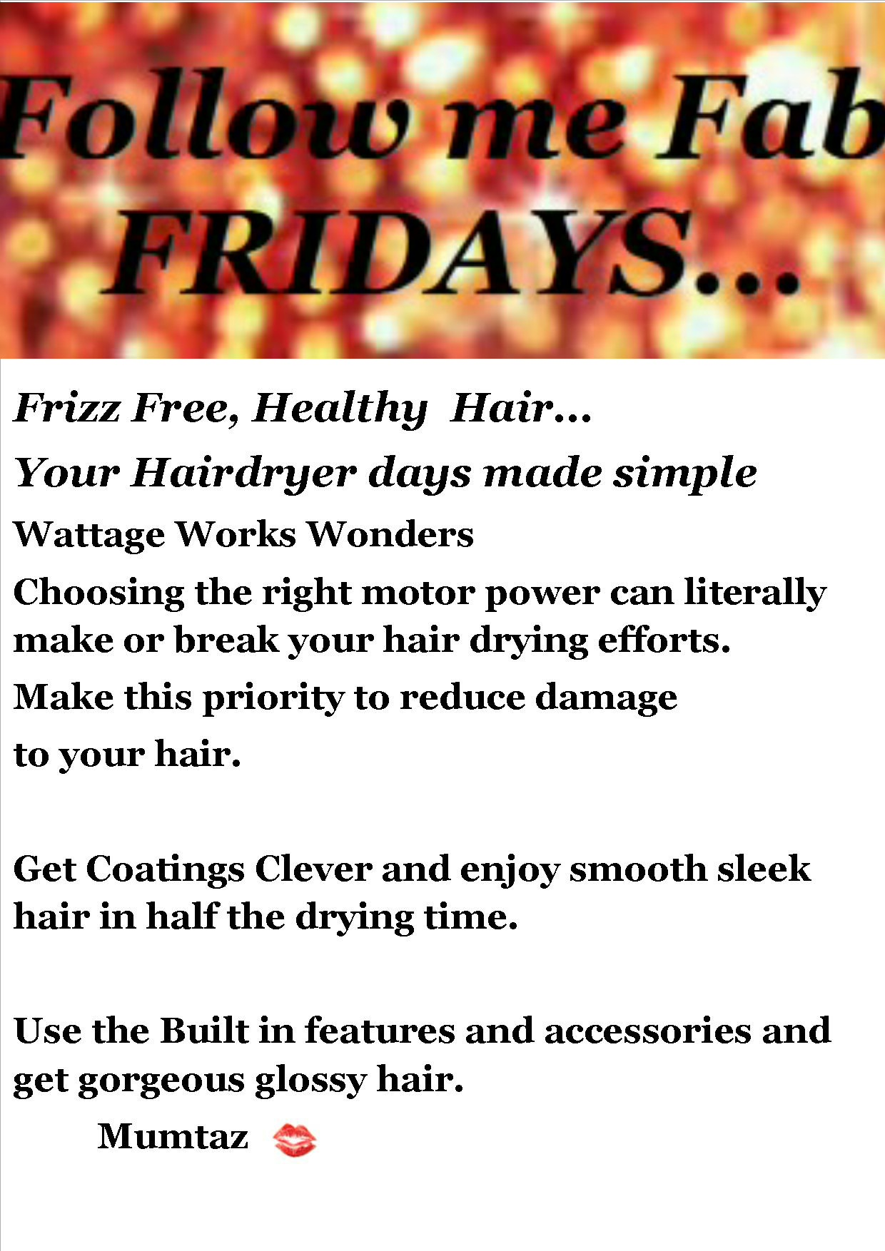 frizz free healthy hair